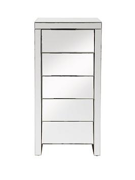 new-monte-carlo-ready-assembled-5-drawer-mirrored-tallboy