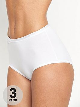 Sloggi Feel Natural Maxi Briefs (3 Pack)
