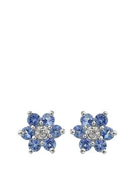 love-gem-9-carat-white-gold-tanzanite-and-diamond-flower-cluster-earrings