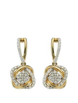 Love DIAMOND Love Diamond 9 Carat Yellow Gold 33 Point Diamond Infinity  ... Picture