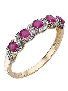 love-gem-9-carat-yellow-gold-ruby-and-diamond-eternity-ring