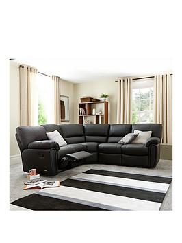 Violino Violino Leighton Leather/Faux Leather Reclining Corner Group Sofa Picture