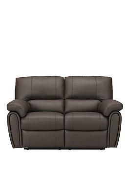 Violino Leighton Leather Faux 2 Seater Recliner Sofa Littlewoods