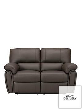 Violino Leighton Leather Faux 2 Seater Recliner Sofa