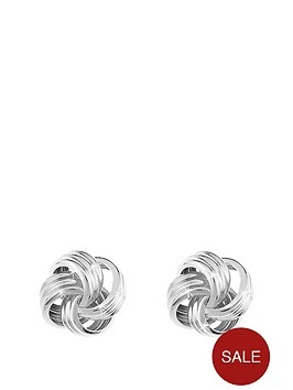 love-gold-9-carat-white-gold-6mm-four-way-knot-earrings