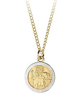 Love GOLD Love Gold 9 Carat Rolled Gold Two Tone St Christopher Pendant Picture