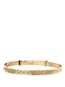 Love GOLD Love Gold 9 Carat Yellow Rolled Gold Flower Expander Bangle Picture
