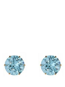 Love GOLD Love Gold 9 Carat Yellow Gold 4Mm Cubic Zirconia Stud Earrings Picture