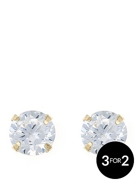 love-gold-9-carat-yellow-gold-coloured-cubic-zirconia-5mm-birthstone-earrings