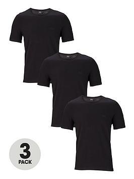 Boss   Bodywear 3 Pack Core Lounge T-Shirts - Black