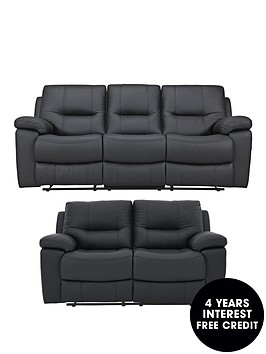 Loreto recliner 3 seater plus 2 seater sofa for Sofa 0 interest free credit
