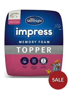 silentnight-impress-5cm-memory-foam-mattress-topper