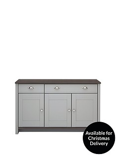 consort-tivoli-ready-assembled-large-grey-sideboard-with-walnut-effect-top