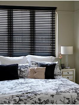 Very Made To Measure 50 Mm Wooden Venetian Blinds - Black Picture
