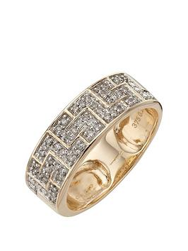 Love DIAMOND Love Diamond 9 Carat Yellow Gold 25 Point Diamond Greek Key  ... Picture