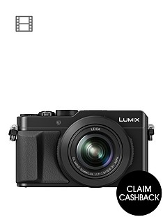 panasonic-lumix-dmc-lx100-ebknbspcompact-digital-camera-4k-ultra-hd-128-megapixel-31x-optical-zoom-evf-3-inchnbsplcdnbspscreennbspup-to-pound50nbspcashback