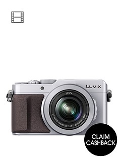 panasonic-lumix-dmc-lx100-ebs-compact-digital-camera-4k-ultra-hd-128-megapixel-31x-optical-zoom-evf-3-inchnbsplcdnbspscreennbsp--silvernbspsave-pound20-with-voucher-code-lxk3t
