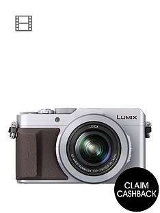 panasonic-lumix-dmc-lx100-ebs-compact-digital-camera-4k-ultra-hd-128-megapixel-31x-optical-zoom-evf-3-inchnbsplcdnbspscreennbspwith-pound50-cashbacknbspnbsp--silver