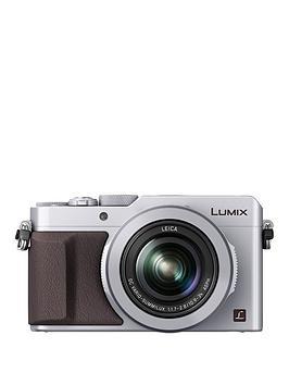 Panasonic Lumix DmcLx100 Ebs Compact Digital Camera 4K Ultra Hd 12.8 Megapixel 3.1X Optical Zoom Evf 3 Inch Lcd Screen  Silver