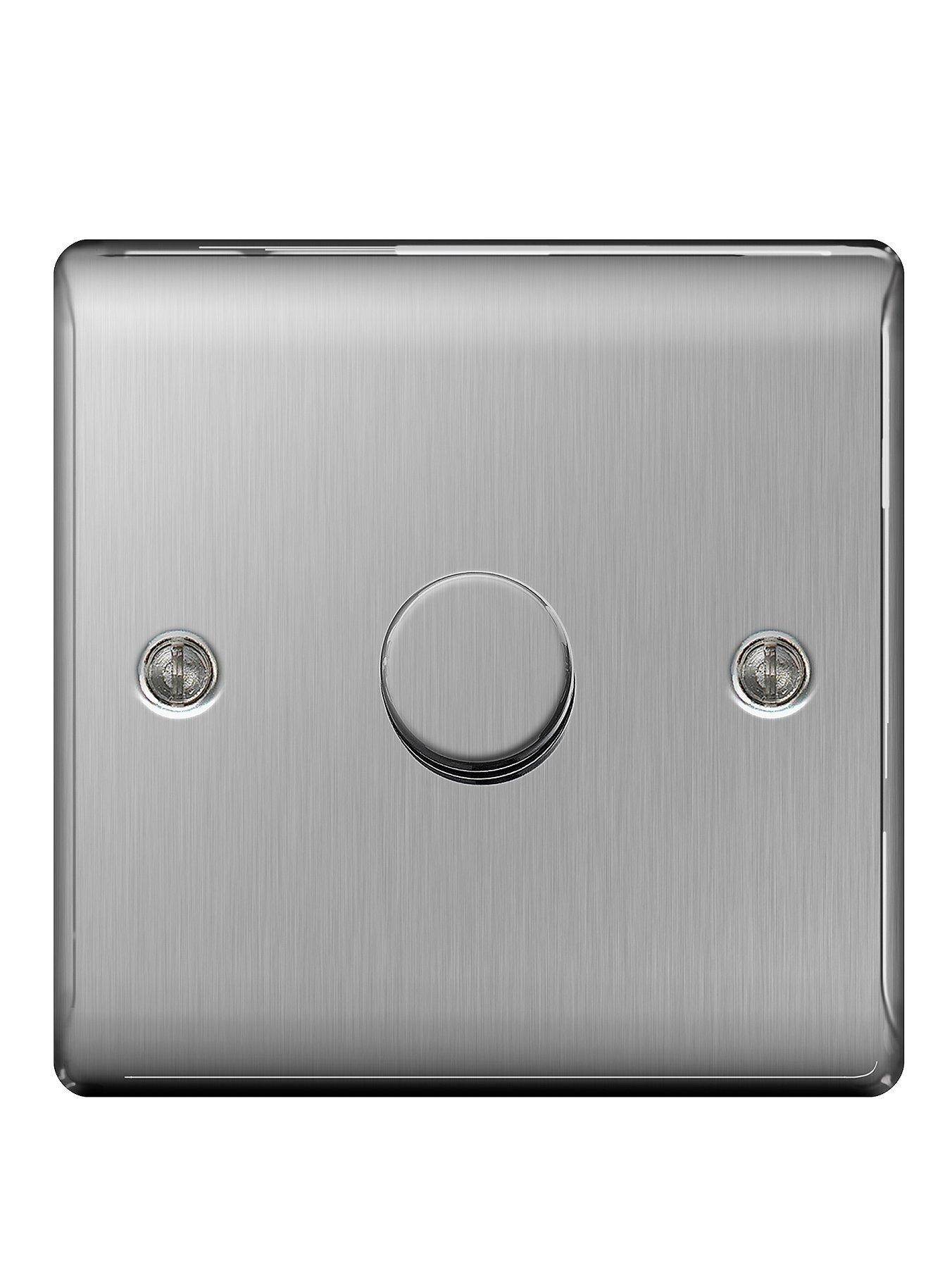 Compare cheap offers & prices of British General Brushed Steel 400 Watt 1G Dimmer manufactured by British General