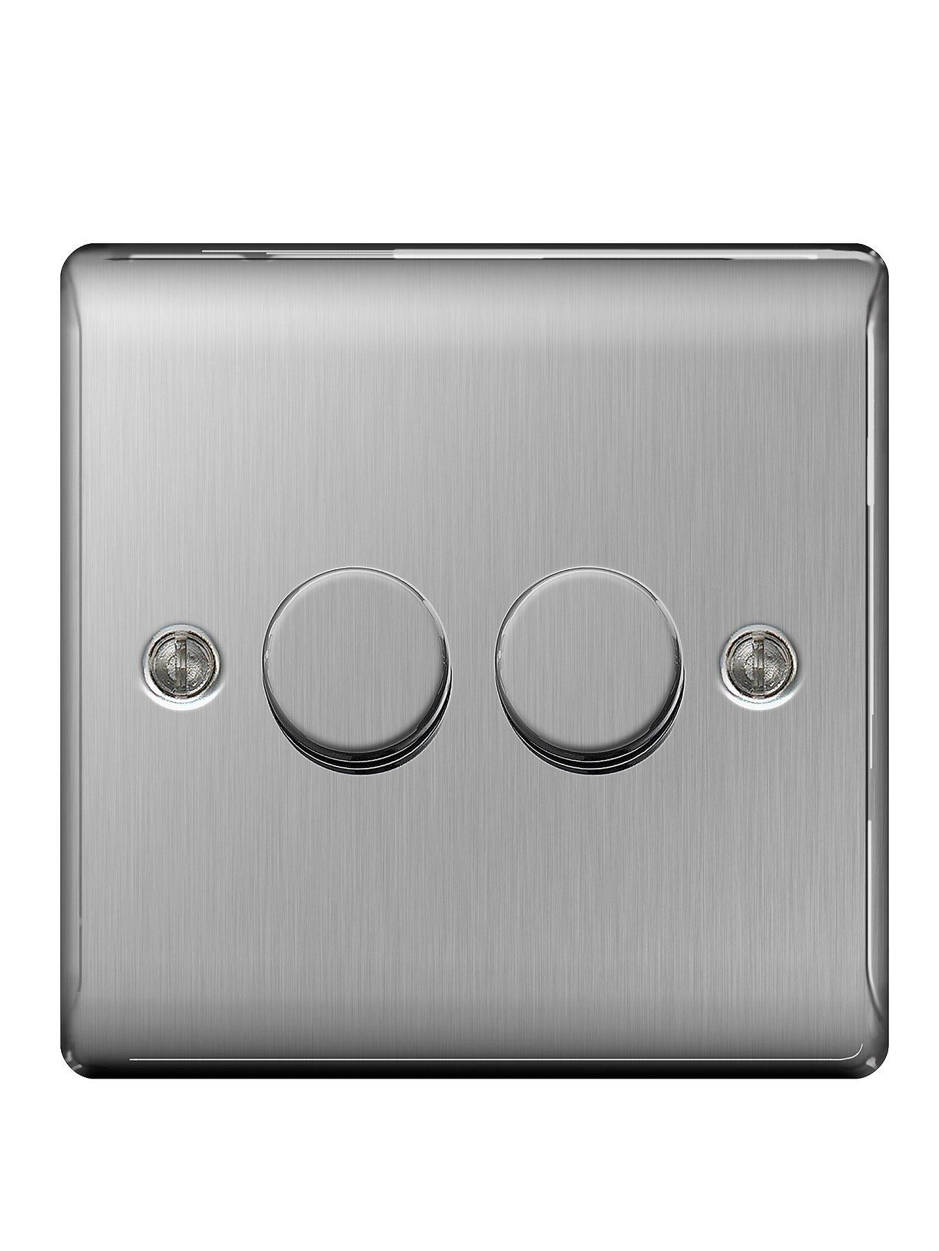 Compare cheap offers & prices of British General Brushed Steel 400 Watt 2G Push Dimmer manufactured by British General