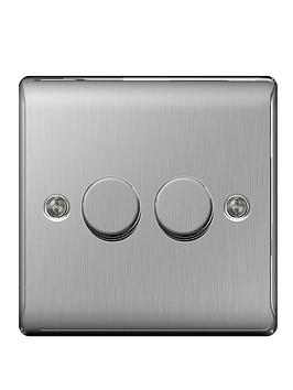british-general-brushed-steel-400-watt-2g-push-dimmer