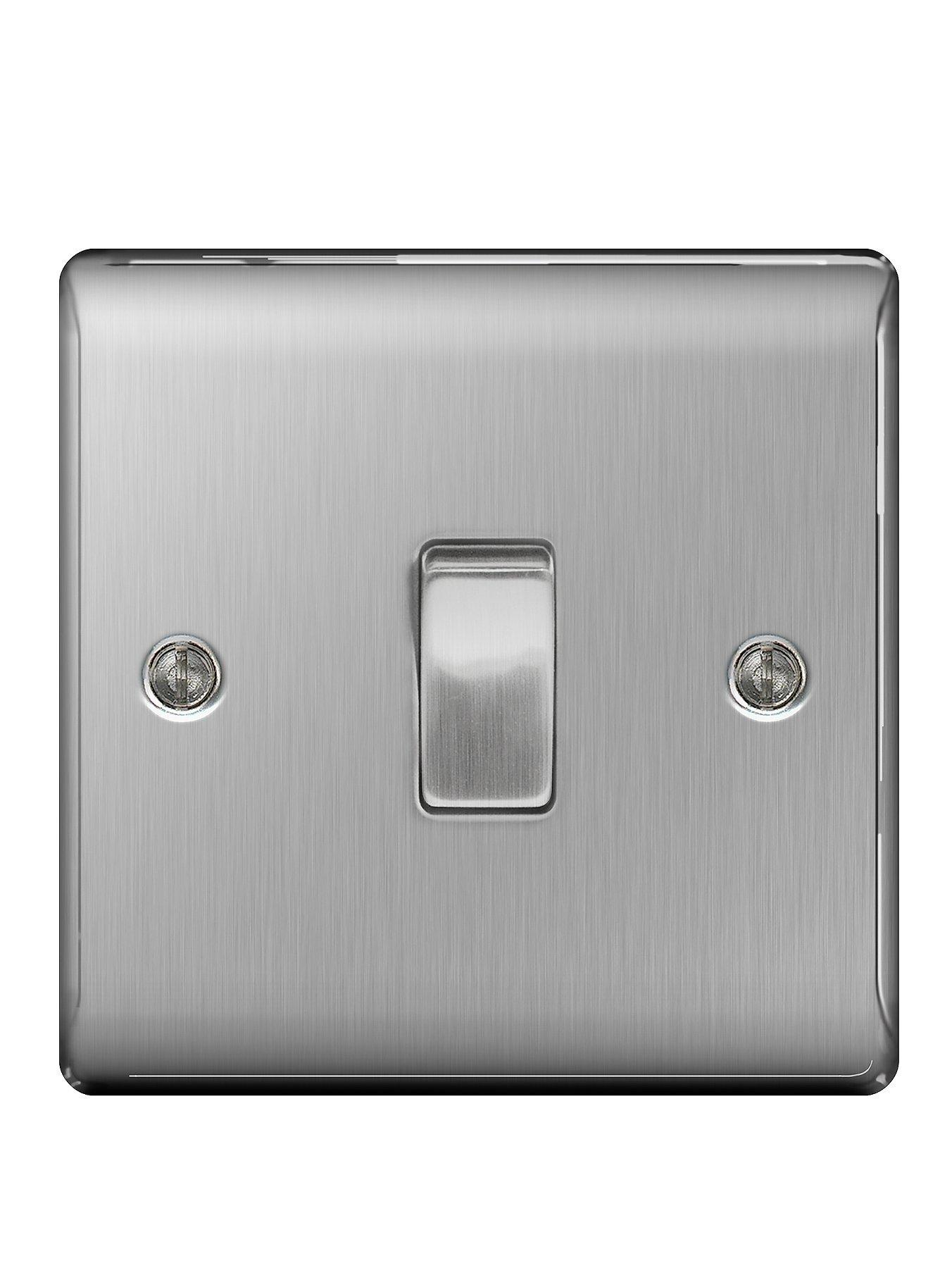 Compare cheap offers & prices of British General Brushed Steel 1G Switch manufactured by British General