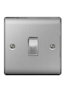 British General   Brushed Steel 1G Switch