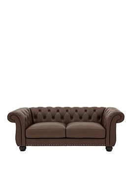 Very Bakerfield 3 Seater Leather Sofa Picture