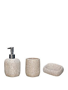 AQUALONA Aqualona Sandstone (3 Pack) - Lotion Bottle, Tumbler And Soap Dish Picture