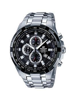 casio-edifice-stainless-steel-black-dialnbspchronograph-mens-watch