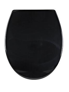 AQUALONA  Aqualona Duroplast Soft Close Toilet Seat - Black