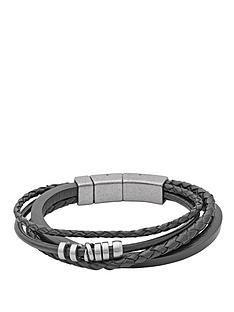 fossil-casual-leather-multistrand-bracelet