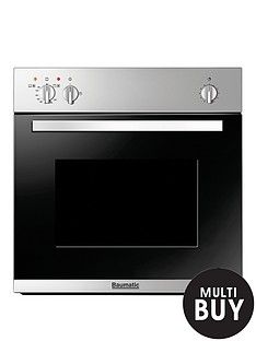 baumatic-bo6105ss-60cm-built-in-single-gas-oven-stainless-steel