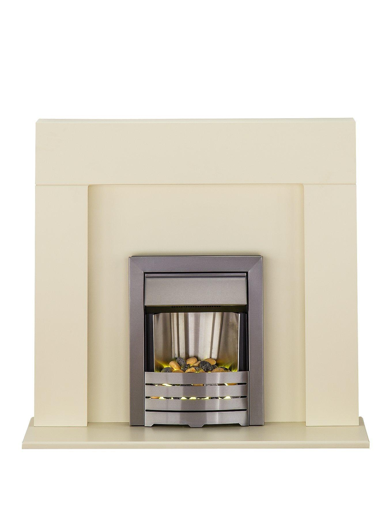 Compare prices for Adam Fire Surrounds Miami Ivory Electric Fireplace Suite