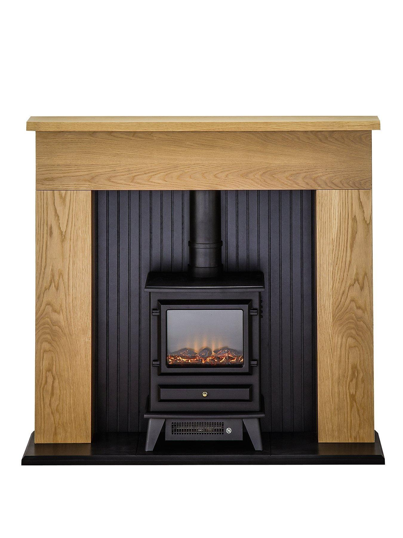 Compare prices for Adam Fire Surrounds Innsbruck Oak Electric Fireplace Suite With Stove
