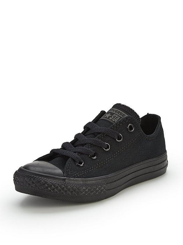 zamówienie najnowszy kody kuponów Chuck Taylor All Star Mono Canvas Ox Core Childrens Trainers - Black