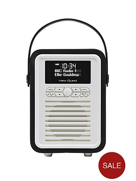 view-quest-retro-mini-radio-black
