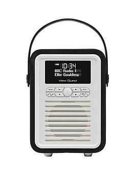 View Quest Retro Mini Radio  Black