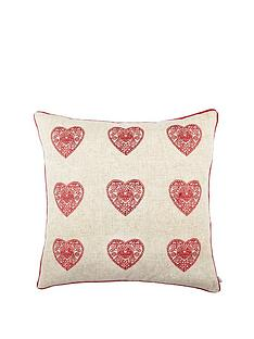 catherine-lansfield-vintage-hearts-cushion-red