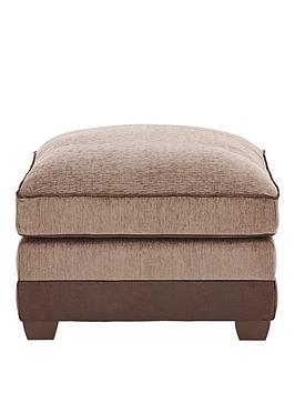 Very  Arran Fabric And Faux Leather Footstool