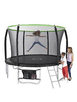 Sportspower 10Ft Titan Super Tube Trampoline Enclosure Ladder &Amp Shoe Bag