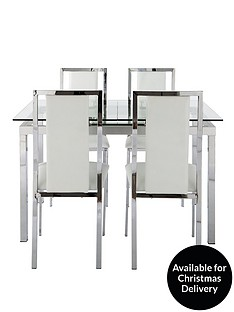 glide-120-150-cm-extending-glass-table-plus-4-atlantic-chairs-clear