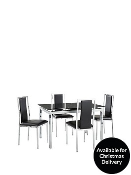 Glide Glass And Chrome 120 150 Cm Extending Dining Table 4