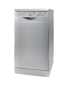 Indesit Dsr15Bs 10Place Slimline Dishwasher  Silver