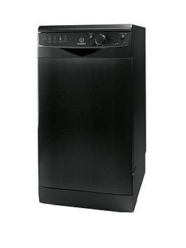 Indesit Dsr15Bk 10Place Freestanding Slimline Dishwasher  Black