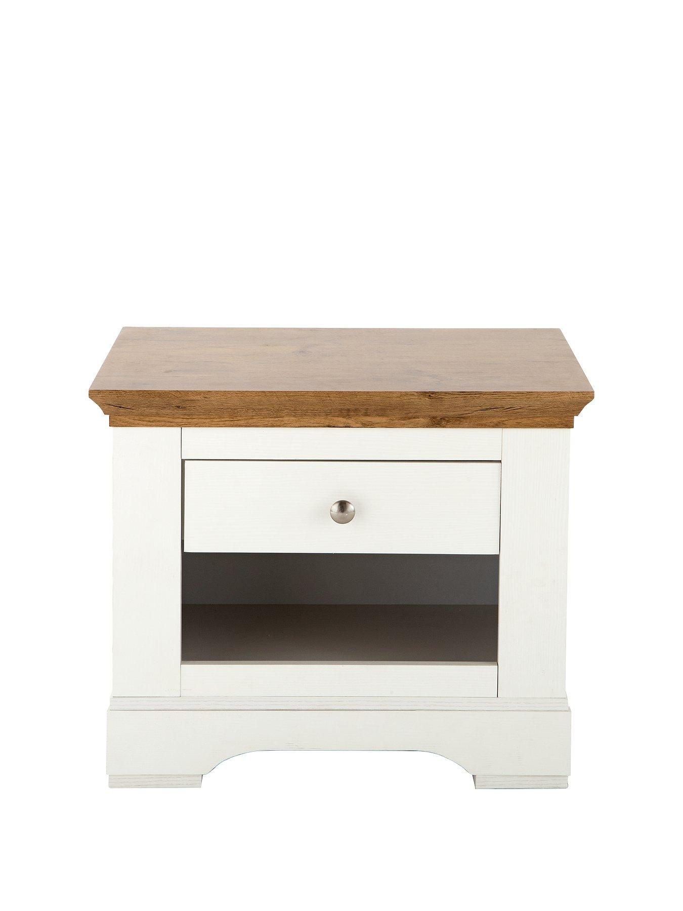 W 45 White End Table Side Table Multiple Purpose-Size H 45 D 45cm Coffee,Lamp
