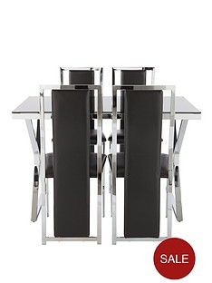 nevada-glass-and-chrome-dining-table-with-4-faux-leather-chairs-black