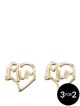 love-gold-9-carat-yellow-gold-mum-stud-earrings