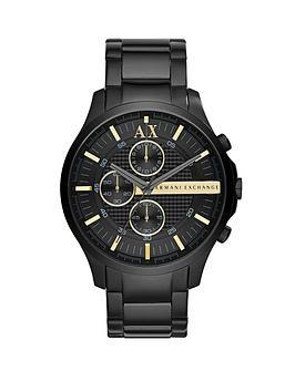 Armani Exchange Gun Metal Dial and Gun Metal Ion Plated Bracelet Mens Watch